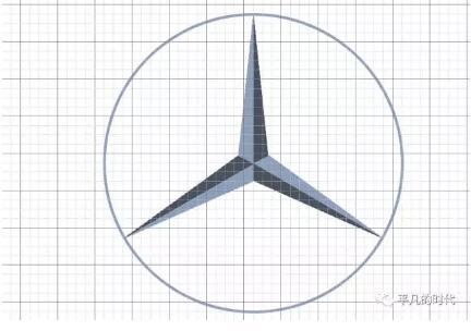 奔驰商标平面设计教程