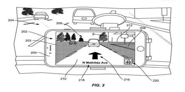 蘋果申請AR地圖專利 在實時路況上疊加導航信息