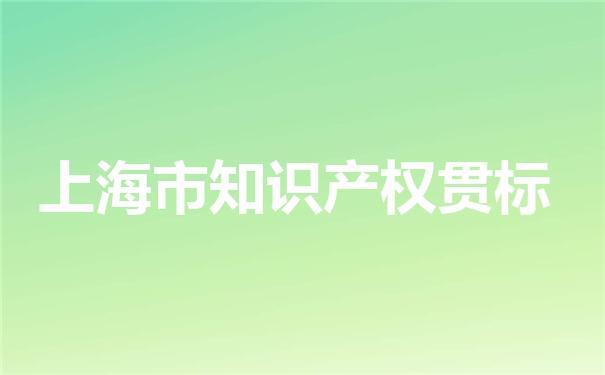 10万元,2020年上海市奉贤区知识产权贯标奖励申报指南