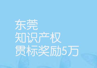 東莞松山湖高新區知識產權資助辦法,知識產權貫標獎勵5萬元!